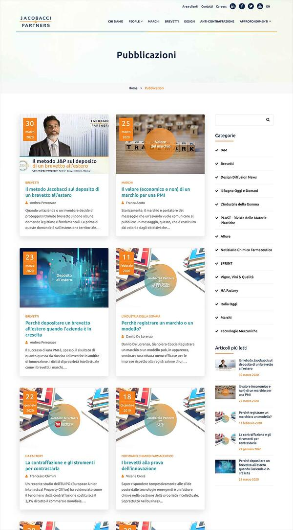 Pubblicazioni sito web J&P   Blog EA