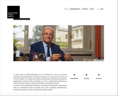 Sito web 1 - Avvocati Associati | Eclettica-Akura, Torino