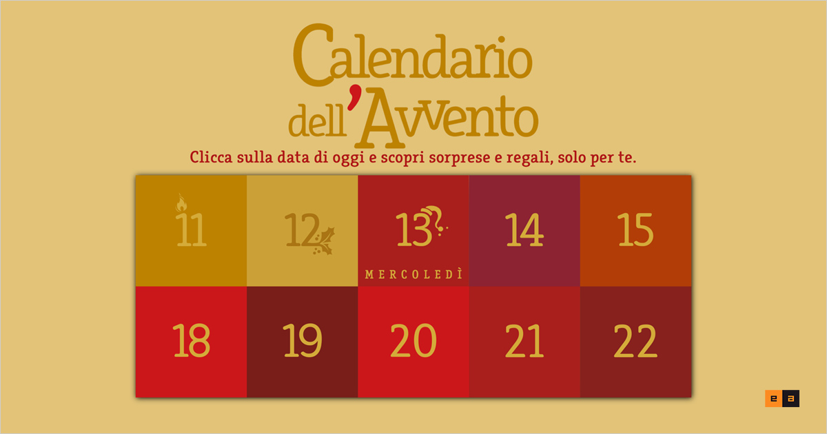 Calendario dell'Avvento digitale EA